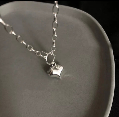 Boxy Heart Necklace