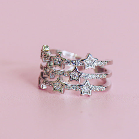 Glitter Star String Ring