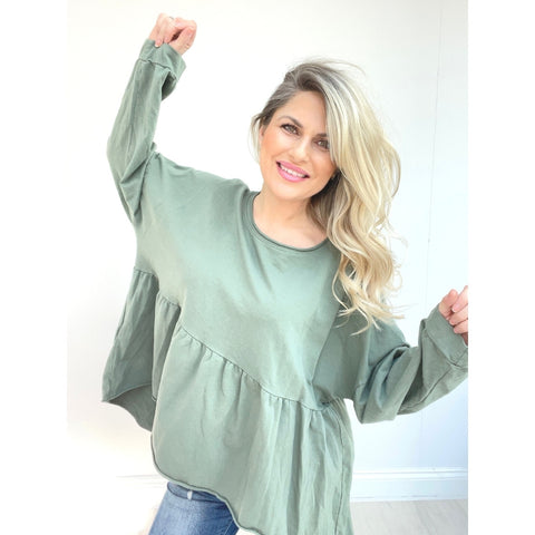 Sophie Swing Top - Khaki