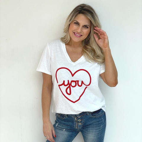 Love You T-Shirt - White