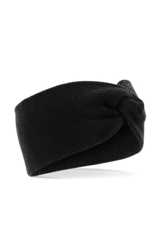 Twisted Ear Warmer - Black