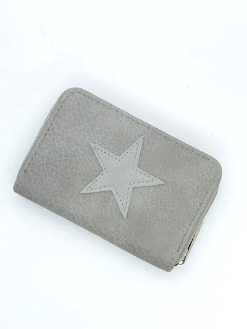Small Star Wallet - Grey