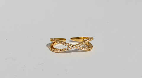 Glitter Twist Ring - Gold