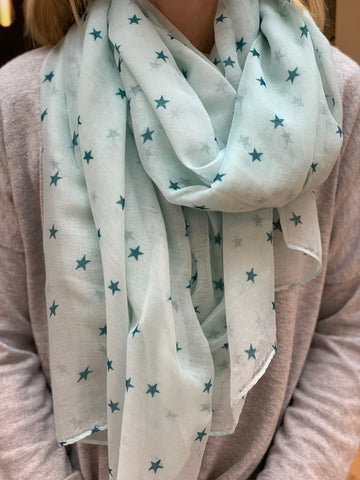 Cosy Star Scarf - Green
