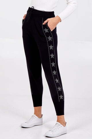 Glitter Star And Stripe Joggers