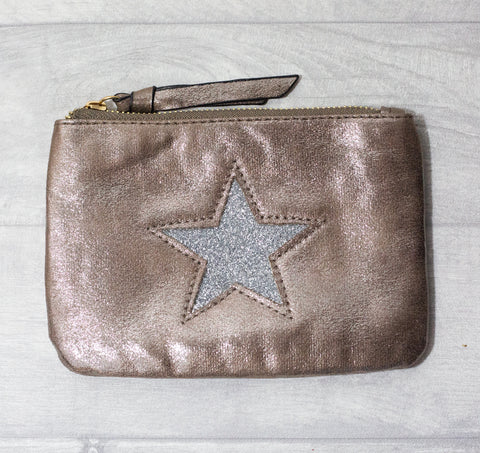 Large Star Coin Purse - Stone