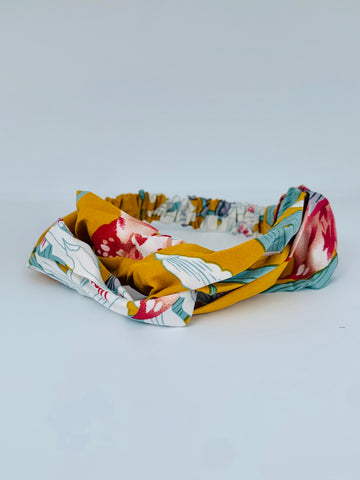 Deep Yellow Floral Headband