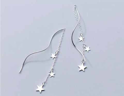 Star Twist Drop Earrings