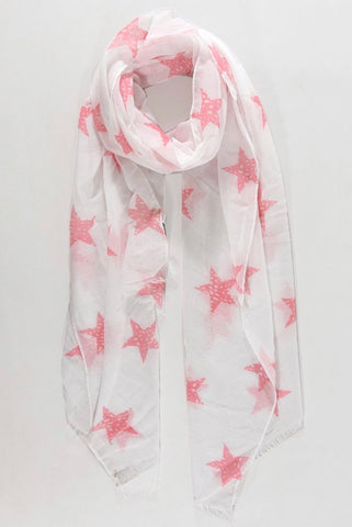 Vicky Star Scarf - White