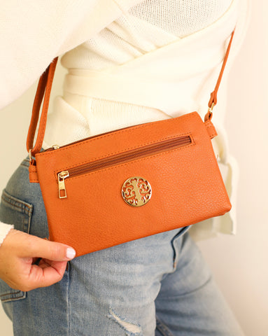 Veronika Cross Body Bag - Tan