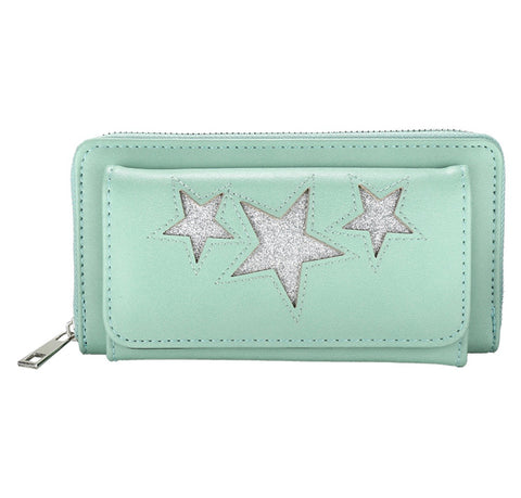 """Naini"" Glitz Star Wallet - Mint"