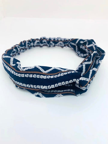 Blue & White Headband
