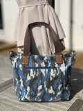 Medium Camo Shoulder Bag - Blue
