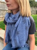 Holly Scarf - Blue