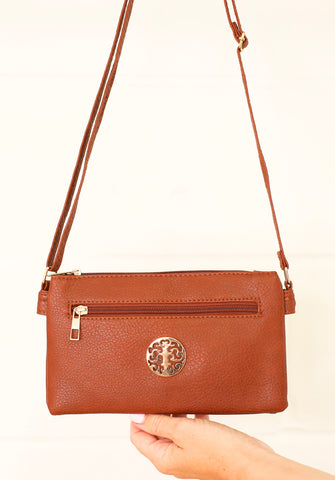 Veronika Cross Body Bag - Dark Brown