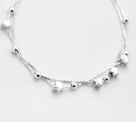 Sterling Silver Star String Bracelet