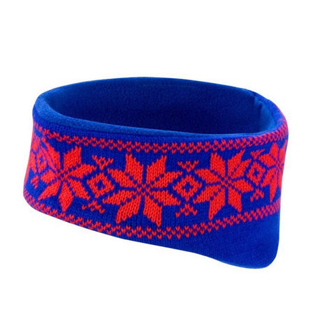Fair Isle Ear Warmer - Red & Blue