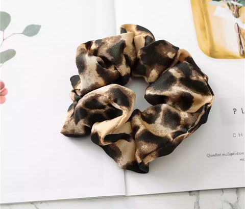 Animal Print Scrunchie - Golden Brown