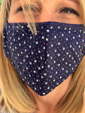 Midnight Blue Cross Face Mask