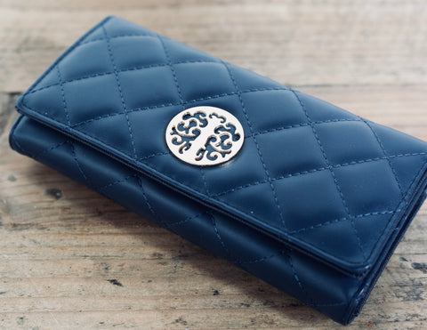 Quilted Purse - Midnight Blue