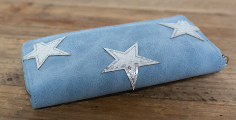 Claire Star Wallet - Blue
