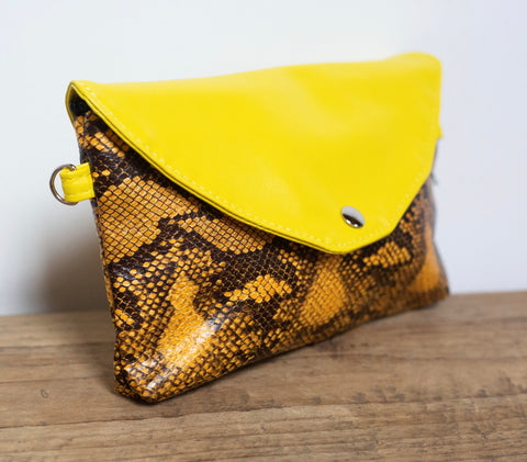 Snakeprint Festival Bag - Yellow