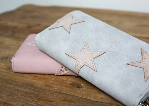 Claire Star Wallet - Grey