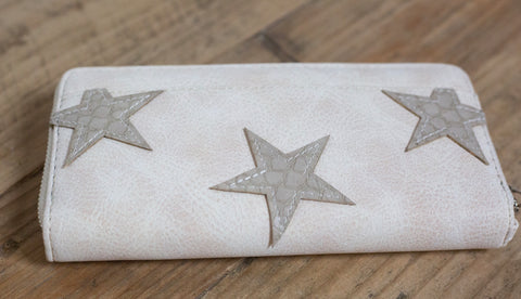 Claire Star Wallet - Cream