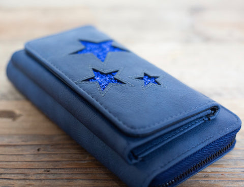 """Naini"" Glitz Star Wallet - Midnight Blue"