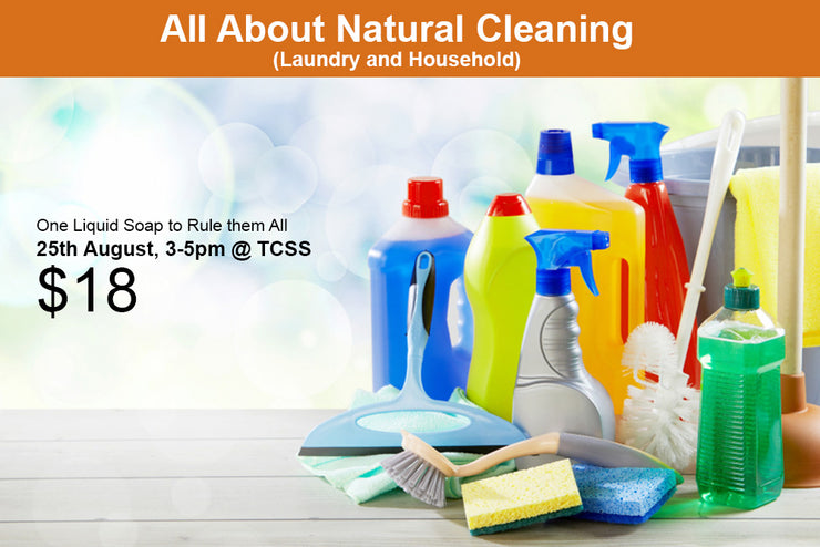 25th August, All About Natural Cleaning (Laundry and Household)