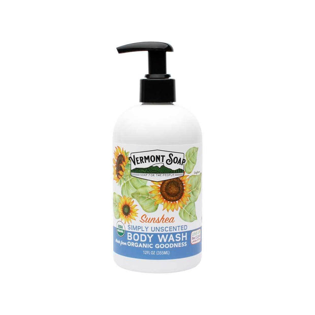 Sunshea Simply Unscented Organic Body Wash