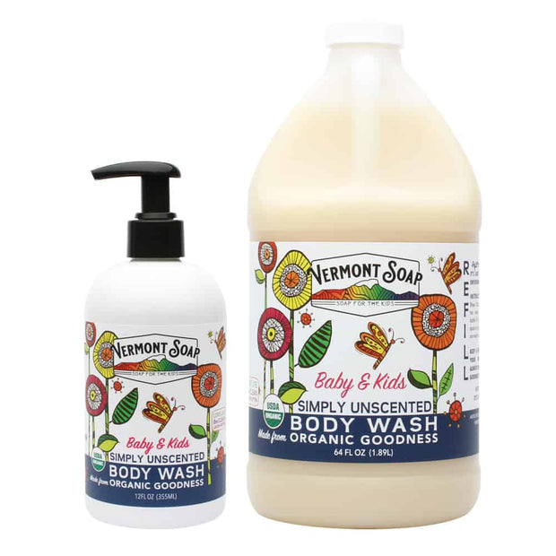 Vermont SunShea Unscented Body Wash Baby & Kids