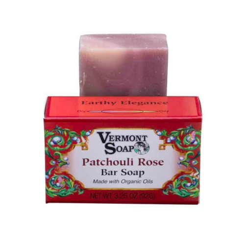 Vermont Hand Made Patchouli Rose Bar Soap 3.5 Oz