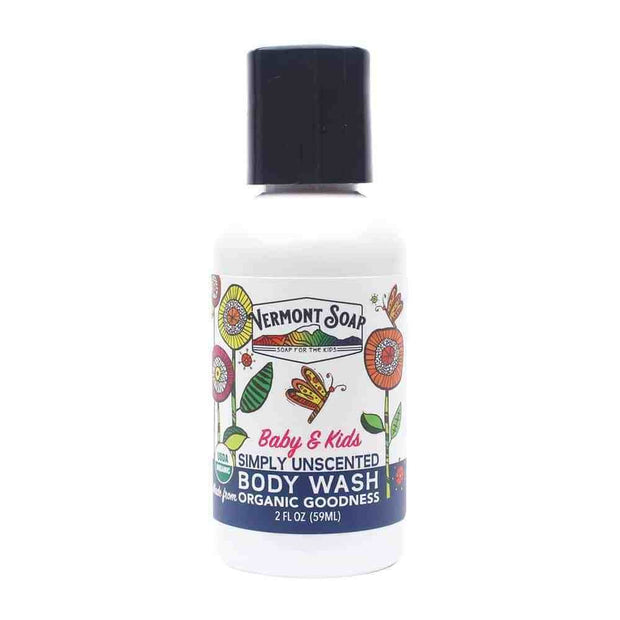 Sunshea Unscented Baby and Kids Organic Body Wash