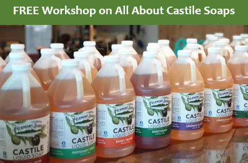 Sunday, 15th March,  2-4 pm @ TCSS All About Castile Soaps
