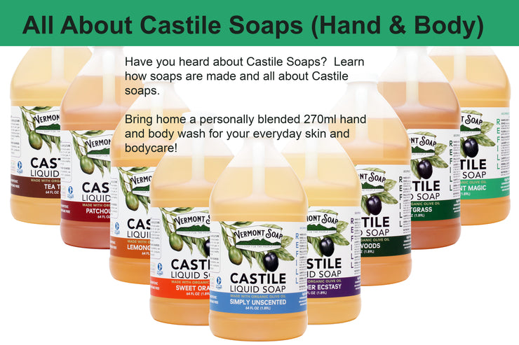 15th February,  2-4 pm @ TCSS All About Castile Soaps (Hand and Body Wash)FREE!