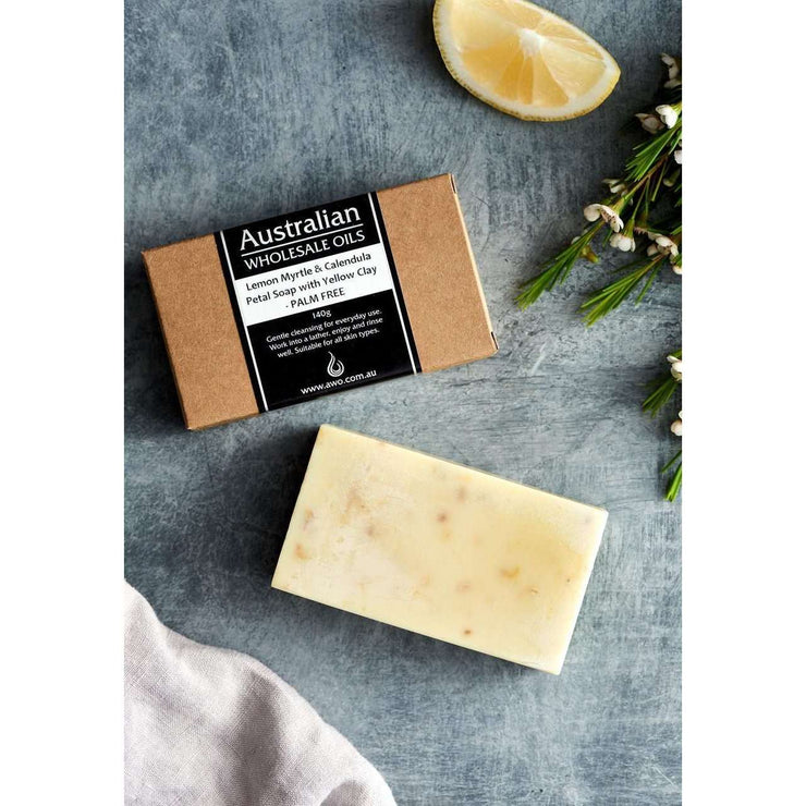 AWO Lemon Myrtle and Calendula Petal Soap 140 g
