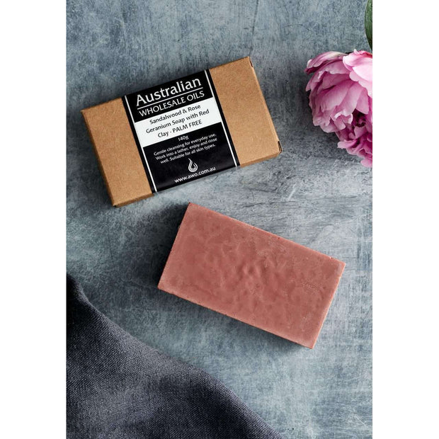 AWO Sandalwood and Geranium Soap with Red Clay 140 g