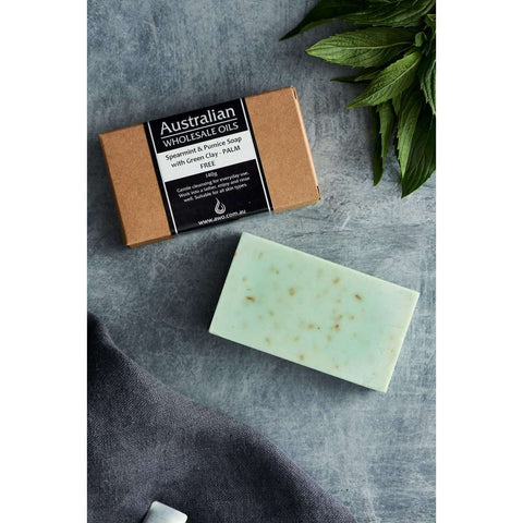 AWO Spearmint & Pumice Soap with Green Clay 140g