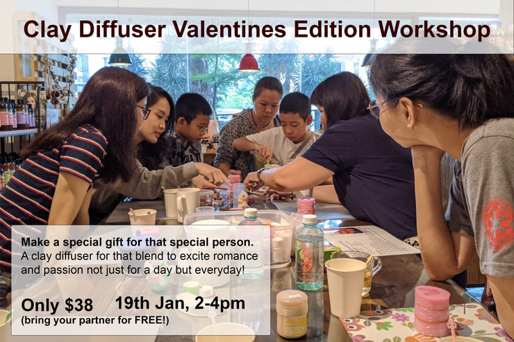 19th Jan, Clay Diffuser Valentines Edition Workshop