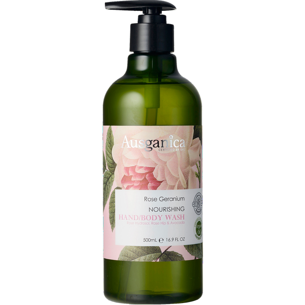 Rose Geranium Nourishing Hand and Body Wash 500 ml