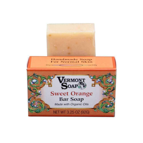 Vermont Hand Made Sweet Orange Bar Soap 3.5 Oz