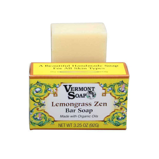 Vermont Hand Made Lemongrass Zen Bar Soap 3.5 Oz