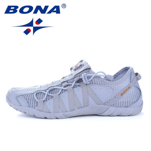 673e36684fd3e BONA New Popular Style Men Running Shoes Lace Up Athletic Shoes Outdoor  Walkng jogging Sneakers Comfortable