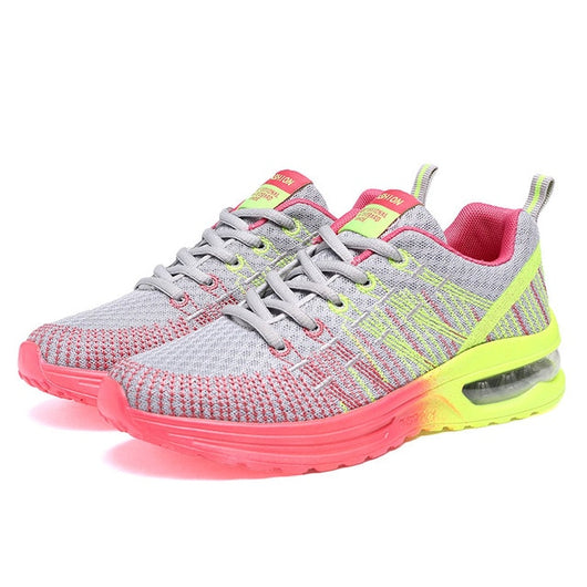 LUONTNOR Sport Women Cushion Sports Shoes Outdoor Breathable Rose Mesh  Sneakers Woman Athletic Cushioning Running Shoe da49d076eb6f
