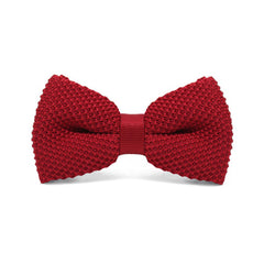Bow Tie Knitted Red - CoolMenClub UK