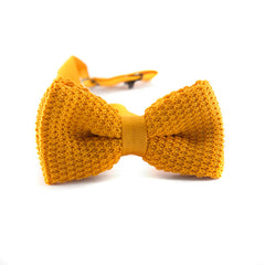 Pre-tied Knitted Bow Tie Yellow