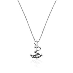 Silver Necklace Handmade Anchor - CoolMenClub UK