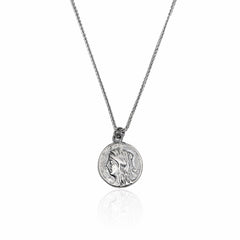 Silver Necklace Old Coin - CoolMenClub UK
