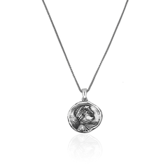 Silver Necklace Handmade Ancient Greek Coin - CoolMenClub UK